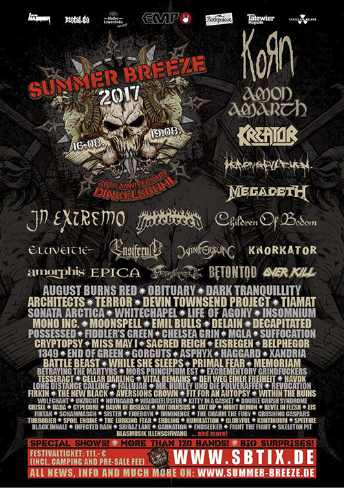 Summer Breeze Open Air 2017 Flyer