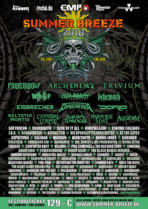 Summer Breeze Open Air 2018 Flyer