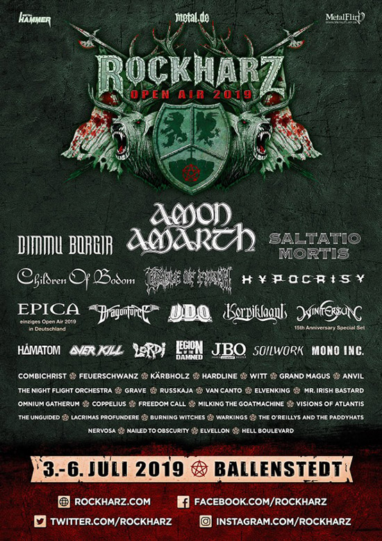 Rockharz Open Air 2019 Flyer