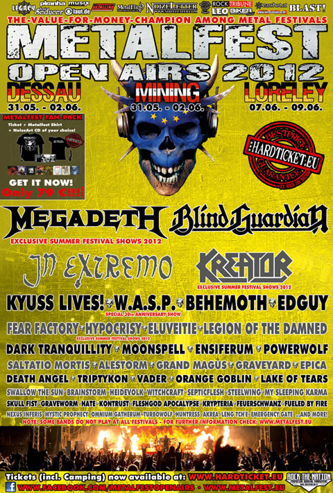 Metalfest Open Airs 2012 - Flyer