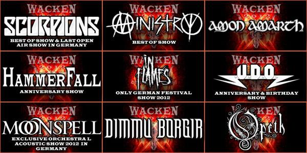 Wacken Open Air 2012 - Bands
