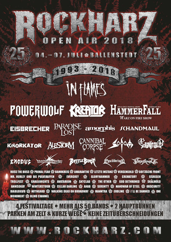 Rockharz Open Air 2018 Flyer