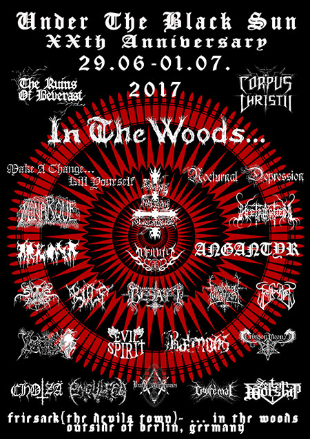 Under The Black Sun 2017 Flyer