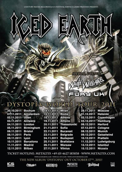Iced Earth - World Dystopia Tour 2011 - 2012
