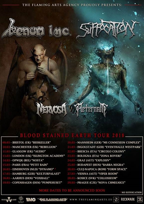 Venom Inc. Suffocation Tour 2018