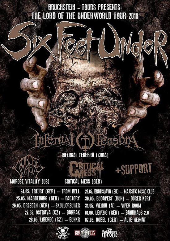 Six Feet Under - The Lord of the Underground Tour 2018