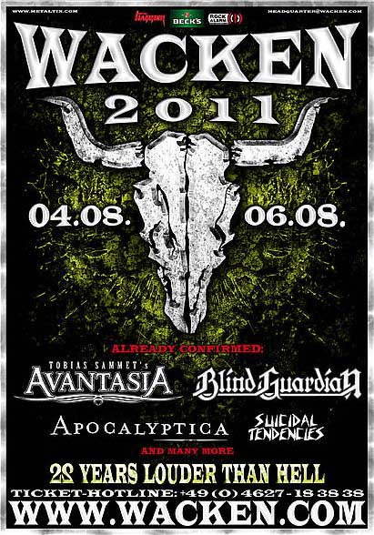 Flyer Wacken Open Air 2011