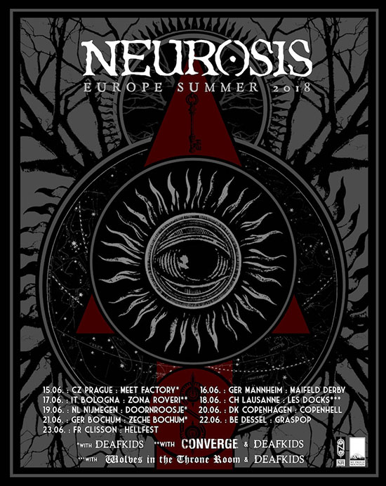 Neurosis Europe Summer Tour 2018